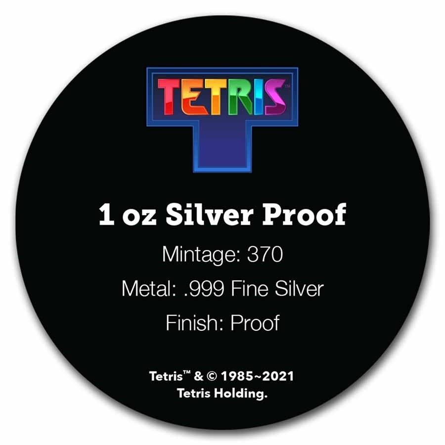 (W160.2.D.2021.1.oz.Ag.8) 2 $ Niue 2021 1 oz Proof Ag - Tetris (certificate back) (zoom)