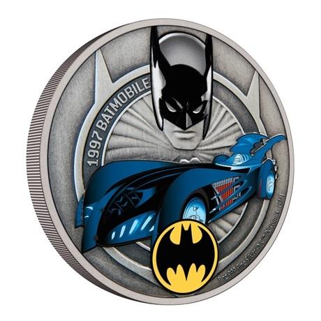 (W160.2.D.2021.30-01088) 2 Dollars Niue 2021 1 once Ag Antique - Batmobile de 1997 (tranche)