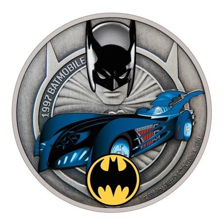 (W160.2.D.2021.30-01088) 2 Dollars Niue 2021 1 once argent Antique - Batmobile de 1997 Revers