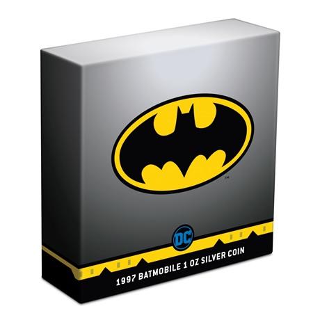 (W160.2.D.2021.30-01088) 2 Dollars Niue 2021 1 once argent Antique - Batmobile de 1997 (boîte)