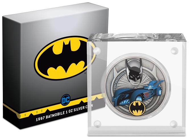 (W160.2.D.2021.30-01088) 2 $ Niue 2021 1 ounce Antique silver - 1997 Batmobile (base and box) (zoom)