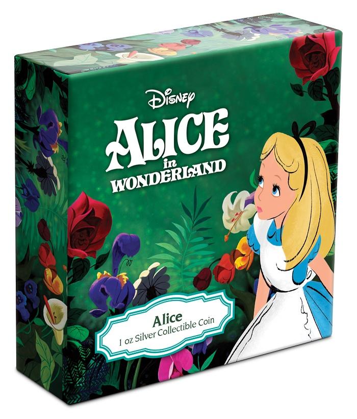 (W160.2.D.2021.30-01090) 2 Dollars Niue 2021 1 ounce Proof Ag - Alice in Wonderland (box) (zoom)