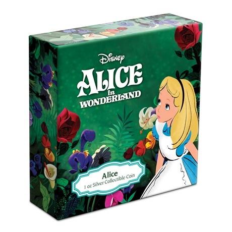 (W160.2.D.2021.30-01090) 2 Dollars Niue 2021 1 oz Ag BE - Alice au pays des merveilles (boîte)