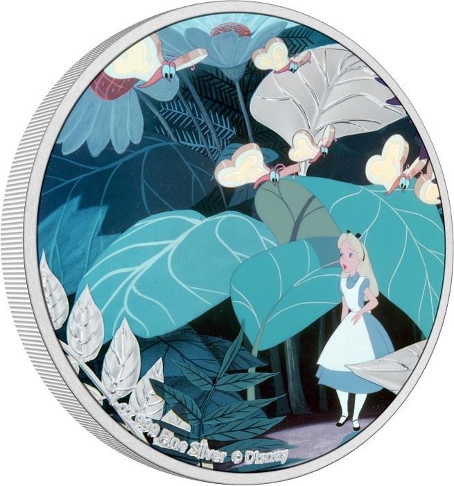 (W160.2.D.2021.30-01090) 2 Dollars Niue 2021 1 oz Proof Ag - Alice in Wonderland (edge) (zoom)