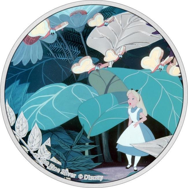 (W160.2.D.2021.30-01090) 2 Dollars Niue 2021 1 oz Proof silver - Alice in Wonderland Reverse (zoom)