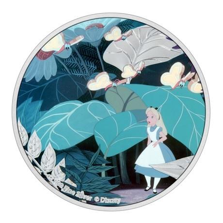(W160.2.D.2021.30-01090) 2 Dollars Niue 2021 1 oz argent BE - Alice au pays des merveilles Revers