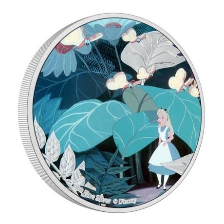(W160.2.D.2021.30-01090) 2 $ Niue 2021 1 oz Ag BE - Alice au pays des merveilles (tranche)
