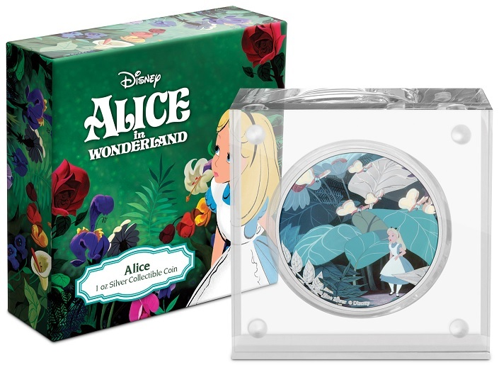 (W160.2.D.2021.30-01090) 2 $ Niue 2021 1 oz Proof silver - Alice in Wonderland (box and base) (zoom)