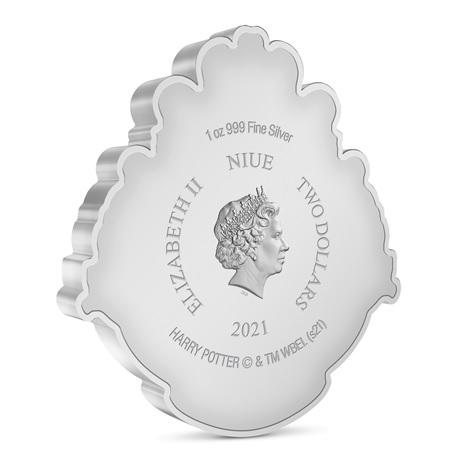 (W160.2.D.2021.30-01096) 2 Dollars Niue 2021 1 once argent BE - Armoiries de Poudlard Avers
