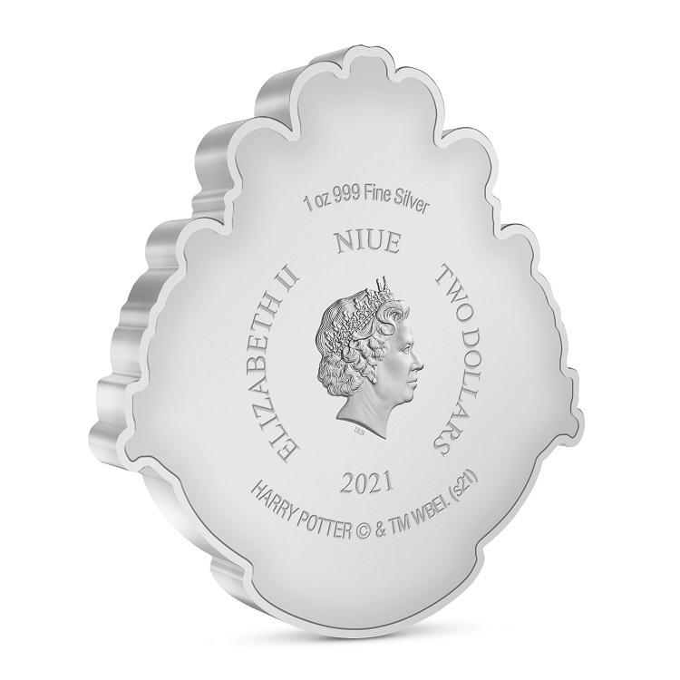 (W160.2.D.2021.30-01096) 2 Dollars Niue 2021 1 oz Proof silver - Hogwarts crest Obverse (zoom)