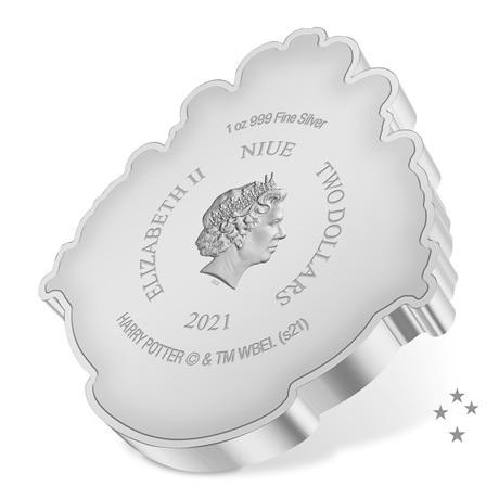 (W160.2.D.2021.30-01096) 2 $ Niue 2021 1 once Ag BE - Armoiries de Poudlard Avers