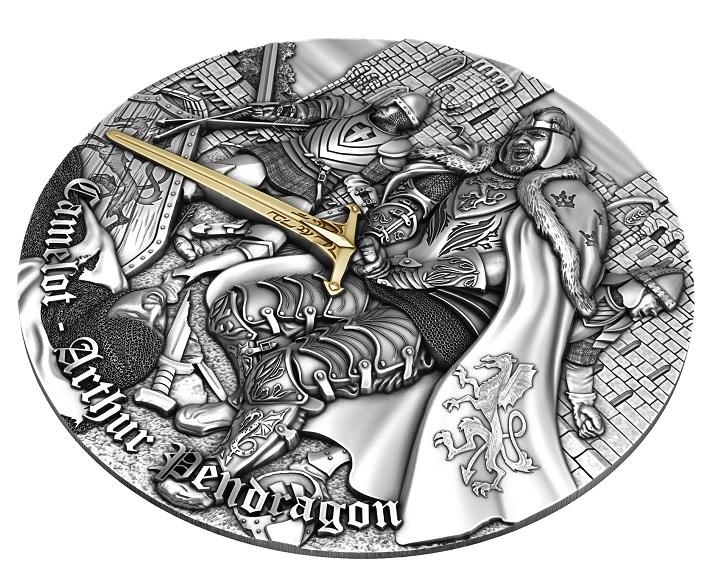 (W160.5.D.2021.2) 5 Dollars Arthur Pendragon 2021 - Antique Ag Reverse (zoom)