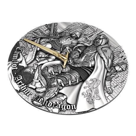 (W160.5.D.2021.2) 5 Dollars Le roi Arthur 2021 - Ag Antique Revers