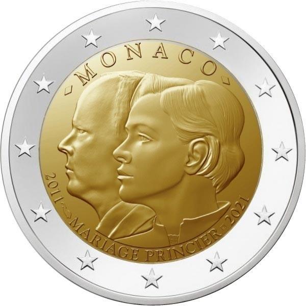 2 euro Monaco 2021 - 10 years of the wedding (zoom)