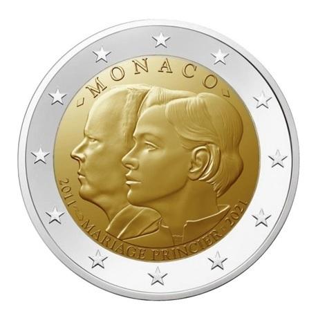 2 euro commémorative Monaco 2021 - 10 ans du mariage princier