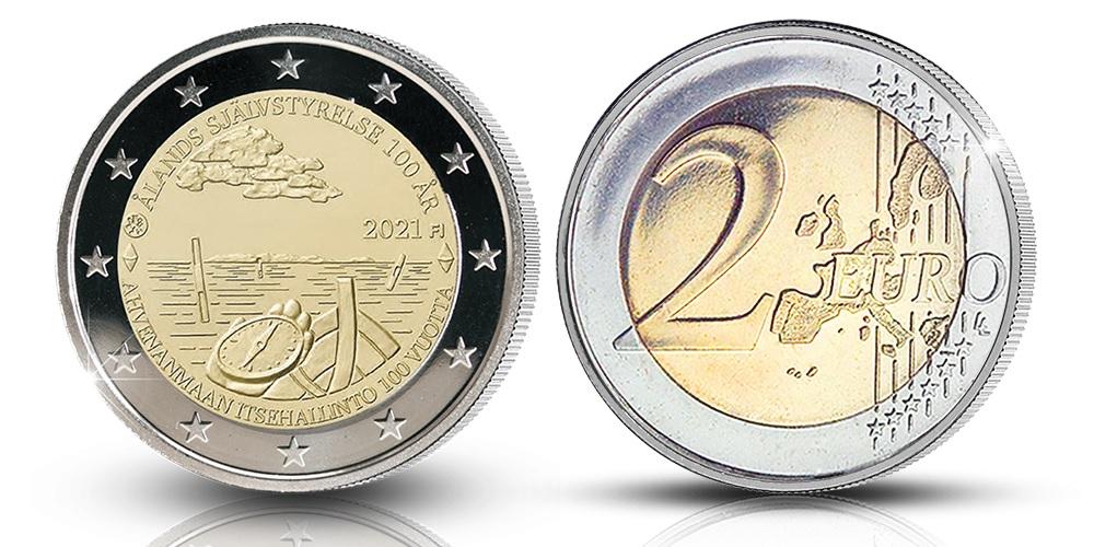 (EUR06.Proof.2021.2.E.2) 2 euro Finland 2021 Proof - Åland autonomy (zoom)