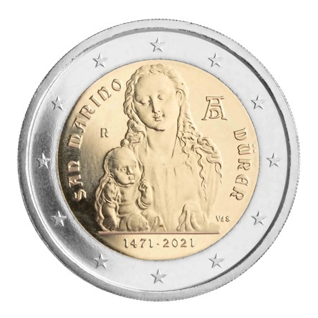 (EUR18.BU.2021.340) 2 euro commémorative Saint-Marin 2021 BU - Albrecht Dürer