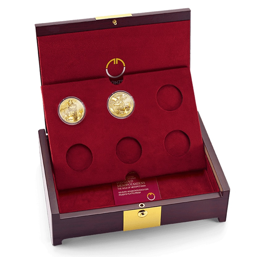 (MATMünzeÖ.case.24299) Collector case Austrian Mint - Magic of Gold (with two coins) (zoom)
