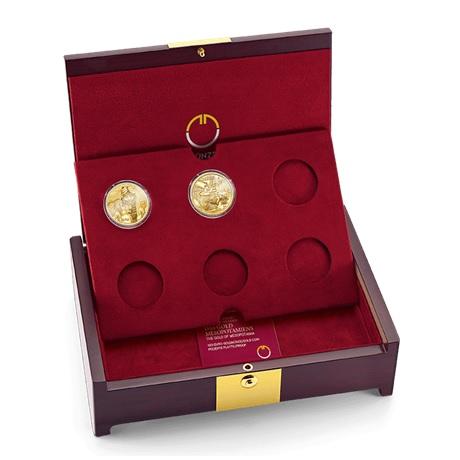 (MATMünzeÖ.case.24299) Ecrin collector Monnaie Autriche - Magie Or (avec les 2 premières pièces)