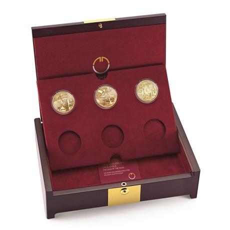 (MATMünzeÖ.case.24299) Ecrin collector Monnaie Autriche - Magie Or (avec les 3 premières pièces)