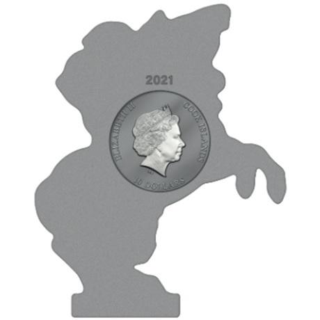 10 Dollars Iles Cook 2021 2 onces argent Antique - Napoléon Bonaparte Avers