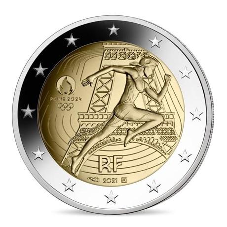 2 euro commémorative France 2021 - Jeux Olympiques de Paris