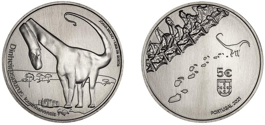 5 euro Portugal 2021 - Dinheirosaurus lourinhanensis (zoom)