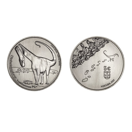 5 euro Portugal 2021 - Dinheirosaurus