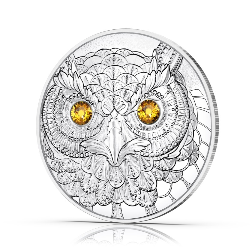 (EUR01.Proof.2021.25152) 20 € Austria 2021 Proof Ag - The Wisdom of the Owl Reverse (zoom)