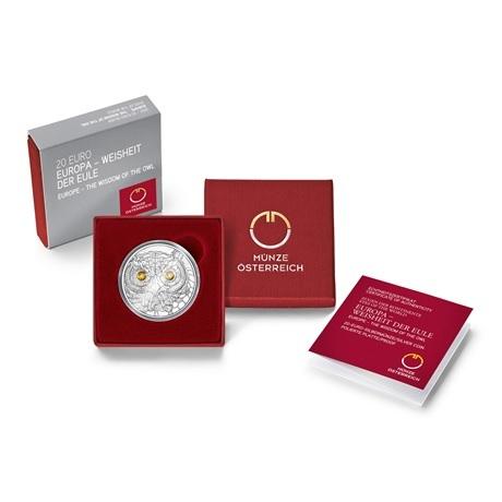 (EUR01.Proof.2021.25152) 20 € Autriche 2021 Ag BE - Sagesse de la chouette (packaging)