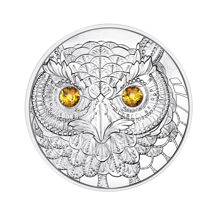 (EUR01.Proof.2021.25152) 20 euro Austria 2021 Proof silver - The Wisdom of the Owl Reverse (zoom)