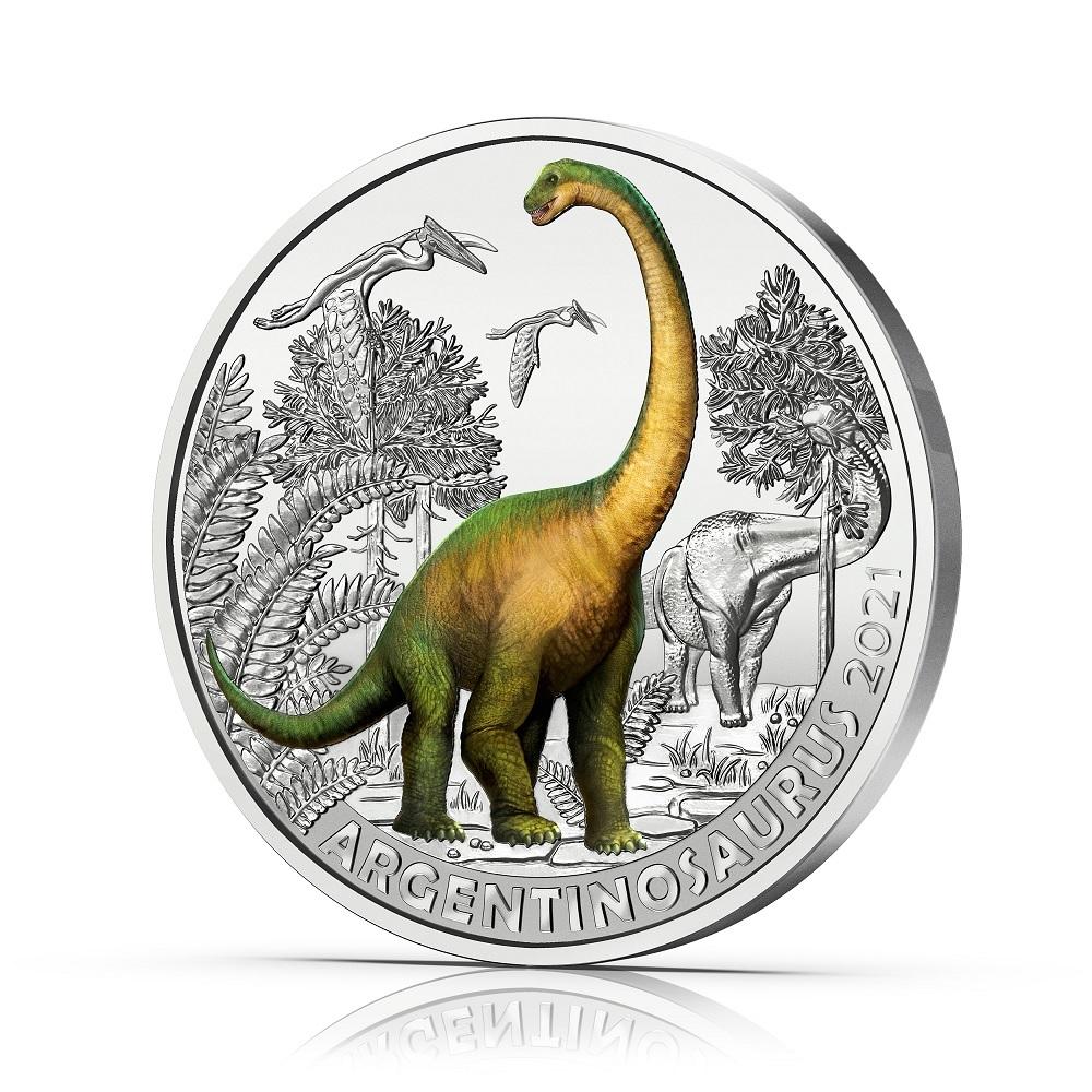 (EUR01.Unc.2021.25153) 3 € Austria 2021 - Argentinosaurus Reverse (zoom)