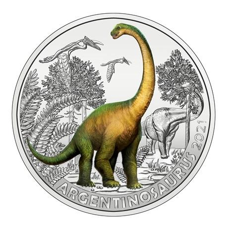 (EUR01.Unc.2021.25153) 3 € Autriche 2021 - Argentinosaure Revers
