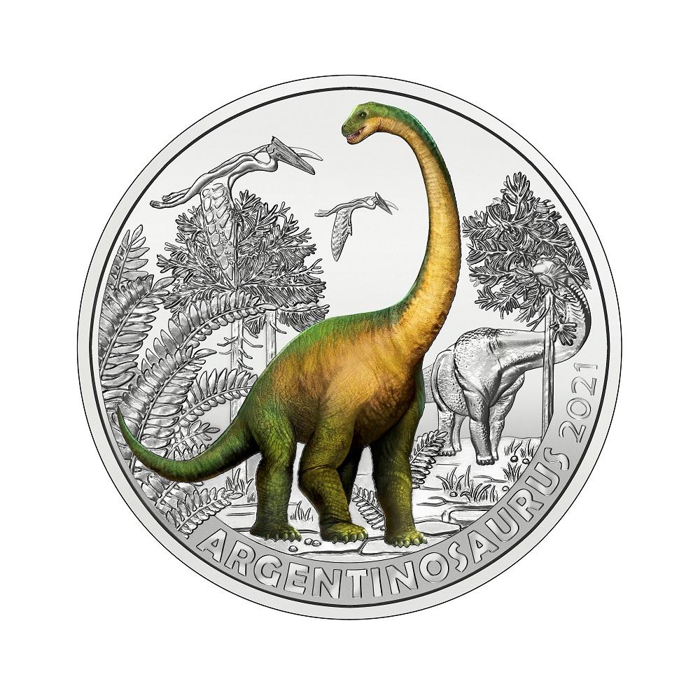 (EUR01.Unc.2021.25153) 3 euro Austria 2021 - Argentinosaurus Reverse (zoom)