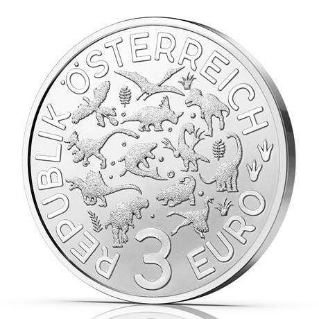 (EUR01.Unc.2021.25153) 3 euro Autriche 2021 - Argentinosaure Avers