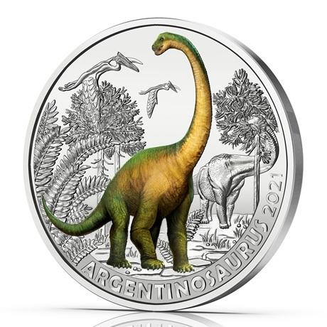 (EUR01.Unc.2021.25153) 3 euro Autriche 2021 - Argentinosaure Revers