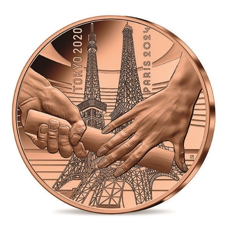 (EUR07.0.25.E.2021.10041355570000) Quart euro France 2021 - Jeux Olympiques de Paris Avers
