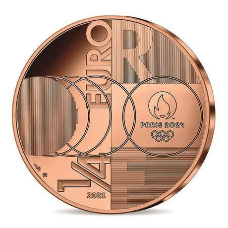 (EUR07.0.25.E.2021.10041355570000) Quart euro France 2021 - Jeux Olympiques de Paris Revers