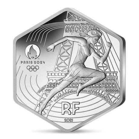 (EUR07.10.E.2021.10041355790000) 10 euro France 2021 argent - Jeux Olympiques de Paris Avers
