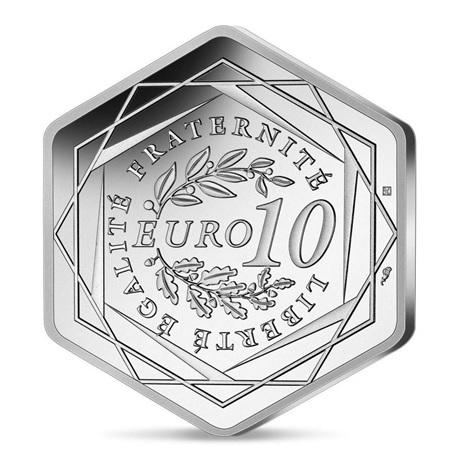 (EUR07.10.E.2021.10041355790000) 10 euro France 2021 argent - Jeux Olympiques de Paris Revers