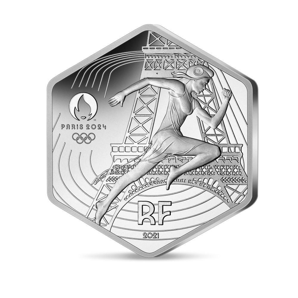 (EUR07.10.E.2021.10041355790000) 10 euro France 2021 silver - Paris Olympic Games Obverse (zoom)