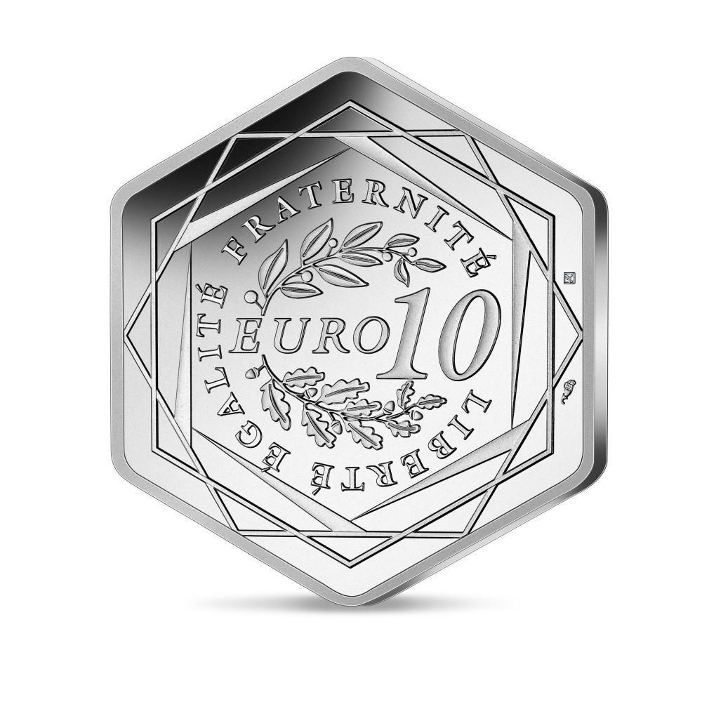 (EUR07.10.E.2021.10041355790000) 10 euro France 2021 silver - Paris Olympic Games Reverse (zoom)