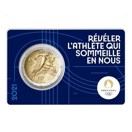 (EUR07.BU.2021.10041355740000) 2 euro France 2021 BU - Jeux Olympiques de Paris Recto