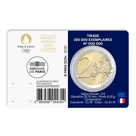 (EUR07.BU.2021.10041355740000) 2 euro France 2021 BU - Jeux Olympiques de Paris Verso