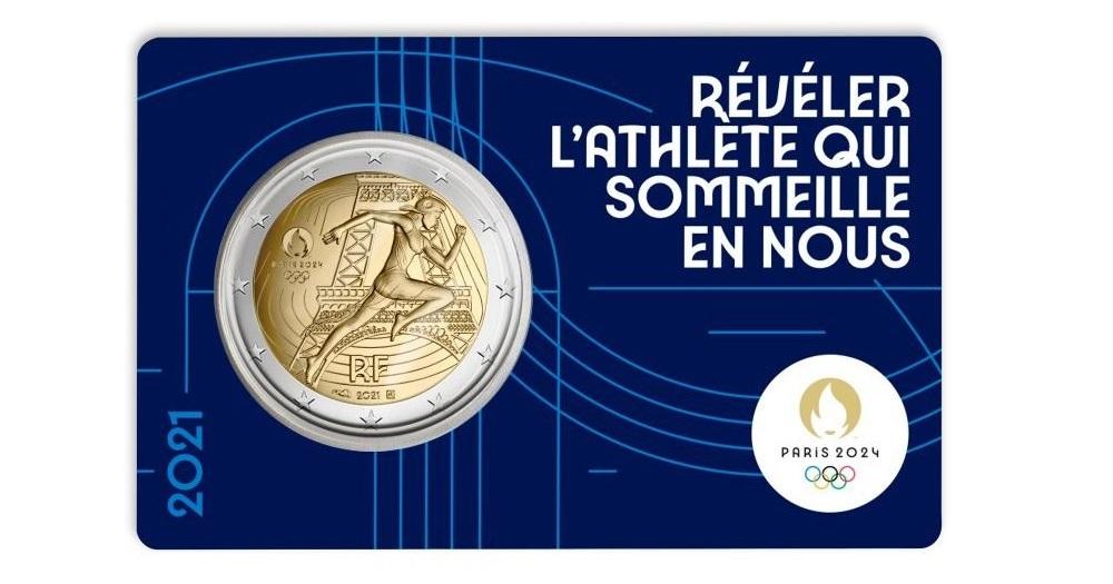 (EUR07.BU.2021.10041355740000) 2 euro France 2021 BU - Paris Olympic Games Front (zoom)