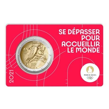 (EUR07.BU.2021.10041355750000) 2 euro France 2021 BU - Jeux Olympiques de Paris Recto