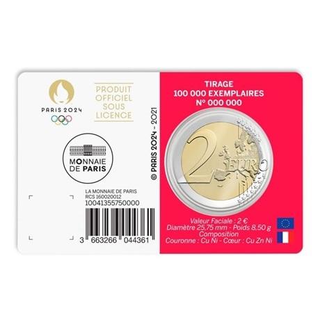 (EUR07.BU.2021.10041355750000) 2 euro France 2021 BU - Jeux Olympiques de Paris Verso