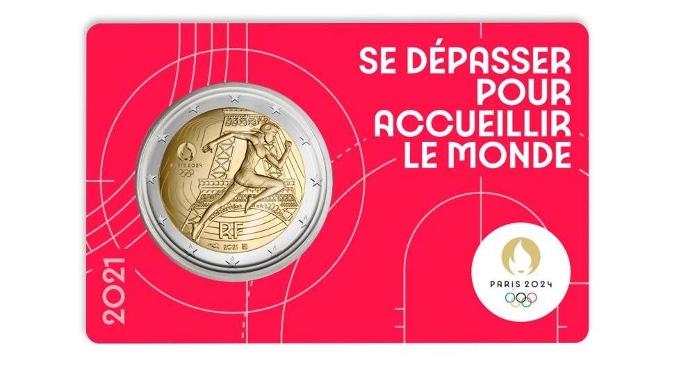 (EUR07.BU.2021.10041355750000) 2 euro France 2021 BU - Paris Olympic Games Front (zoom)