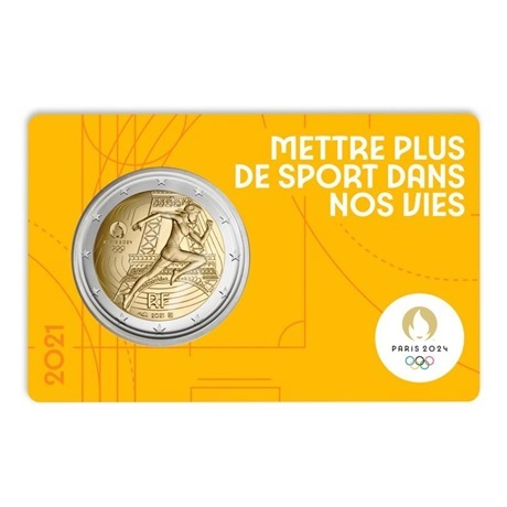 (EUR07.BU.2021.10041355760000) 2 euro France 2021 BU - Jeux Olympiques de Paris Recto