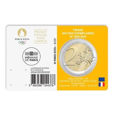 (EUR07.BU.2021.10041355760000) 2 euro France 2021 BU - Jeux Olympiques de Paris Verso